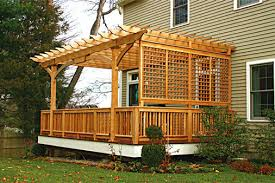 Trellis Structures Pergolas Attached Pergolas Traditional Deck Boston By Trellis
