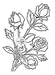 nice roses coloring page for kids flower coloring pages