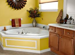bathroom colors yellow paint accent tile bright navpa2016