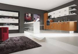 modern kitchen bench endearing parallel shape modern style kitchen come with oval shape