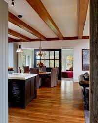room divider door living room farmhouse with none
