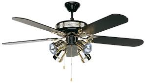 Black Ceiling Fan With Light Casafan Ceiling Fan Black Magic 132 Cm 52