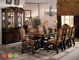 Neo Renaissance Formal Dining Room Furniture Set With Optional - Formal dining room