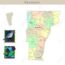 usa map vt usa states series vermont political map with counties roads