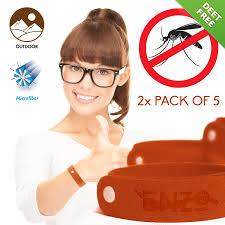 all natural mosquito repellent bracelet u2013 2 x pack of 5 u2013 zika