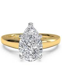 shaped engagement ring pear shaped engagement rings