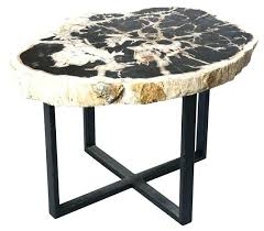 petrified wood dining table petrified wood table home design