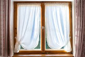 Old Curtains Old Wooden Window With White Curtains Stock Photo Image 41533221