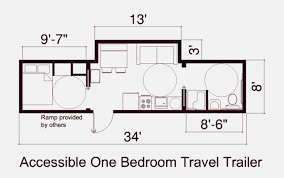 ada floor plans floor plan of fema one bedroon trailer