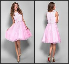 light pink graduation dresses light pink crew neckline homecoming dresses knee lenght pleats