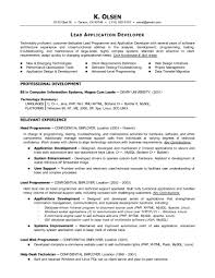 Science Resume Sample by Programming Resume Examples