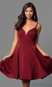 dave and johnny dress with v neckline