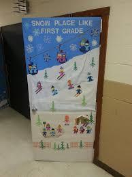 winter classroom door …