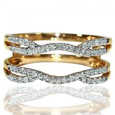 Wedding Ring Enhancers by Enhancer Ring Jacket 14k Yellow Gold Real 0 33ct W Diamonds New