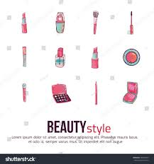 beauty makeup icon set concept image stock vector 446007235 concept image poster for wall art prints mock up
