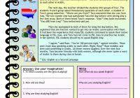 reading comprehension worksheets for advanced esl students