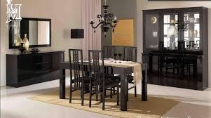 Black Gloss Dining Room Furniture Roma High Gloss Dining Table 4 Chairs
