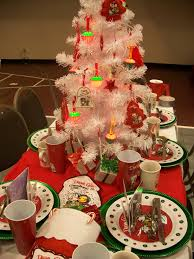 christmas party table decor rainforest islands ferry