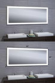 mirrors 133693 24 x60 led illuminated wall mount bathroom vanity