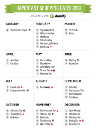 2013 marketing events ecommerce shopping calendar