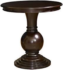 amazon com dark cherry pedestal side table kitchen u0026 dining