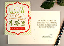 Business Holiday Card Eco Friendly Business Holiday Cards Blog Botanical Paperworks