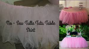 Pink Table Skirt by No Sew Tulle Tutu Table Skirt Youtube