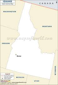 State Map Blank by Idaho Outline Map Blank Map Of Idaho