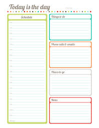 Printable Planner Diary | free printable fillable today is the day planner diary by erin