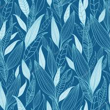 blue bamboo leaves seamless pattern background u2014 stock vector