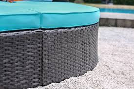 Aria Patio Furniture Outdoors The - cm os2117 25 outdoor patio daybed in turquoise w awning