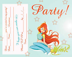 free winx club fairis printable party invitation best gift ideas