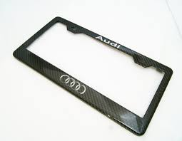 audi rings audi audi carbon fiber plate frame silver text and rings