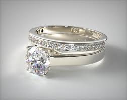 engagement and wedding ring set settings of engagement ring sets determine their styles
