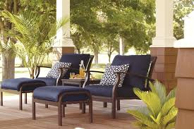 patio furniture with ottomans decorating armchair and ottoman plus navy lowes patio cushions navy