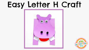 easy letter h craft preschool alphabet resource youtube