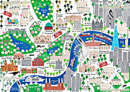 london map for children london map