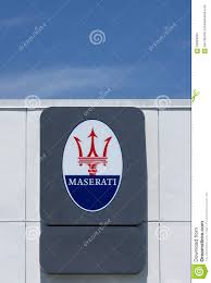 maserati blue logo maserati dealership sign and logo editorial image image 56583090