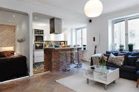 Wohnzimmer Mit Lampen Coole Offene Küche Und Ein Wohnzimmer Mit Küche Kabinett Und