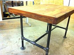 butcher block kitchen island table butcher block island table industrial bar table with pipe legs