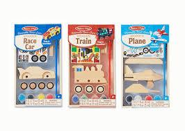 amazon com melissa u0026 doug decorate your own wooden craft kits set