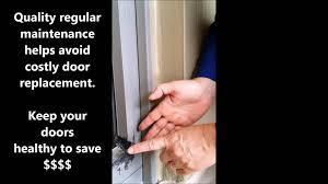 sliding glass door weather seal repair options on andersen vinyl sliding glass patio doors youtube