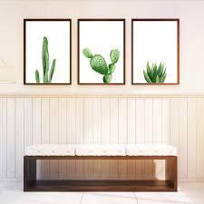 Nordic Home Decor Nordic Home Decor Cactus Decor A4 Posters Green Plant