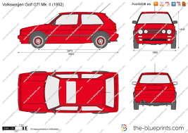 volkswagen clipart the blueprints com vector drawing volkswagen golf gti mk ii