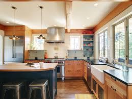 calgary butcher block countertops kitchen contemporary with flush