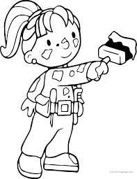 bob the builder wendy painting coloring page wecoloringpage