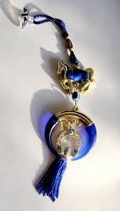 horseshoe ornaments ping car hanging pendant evil blue horseshoe ornaments muslim