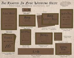Backyard Wedding Invitations Rustic Wedding Invitation Set Printable Olive Green Kraft Fall