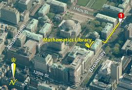 Math Map Directions To The Mathematics Library Columbia University Libraries
