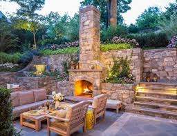 Fake Outdoor Fireplace - outdoor fireplace pictures gallery landscaping network